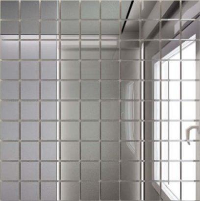 Керамическая плитка Мозаика зеркальная Серебро С25 ДСТ 25 х 25 300 x 300 мм (10шт) - 0