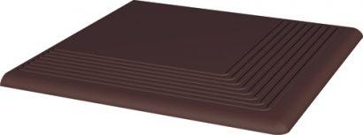 Клинкер Natural Brown ступень угловая 30×30×1