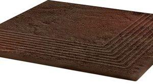 Клинкер Semir Brown Ступень угловая структурная 30×30×1