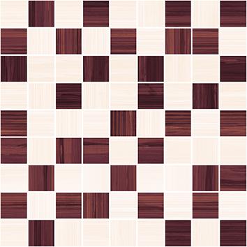 Керамическая плитка Stripes Мозаика бордо+бежевый 30×30