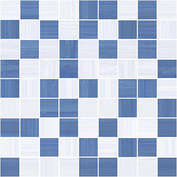 Керамическая плитка Stripes Мозаика синий+серый 30×30