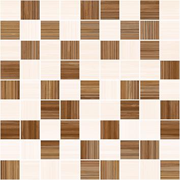 Керамическая плитка Stripes Мозаика т.бежевый+бежевый 30×30