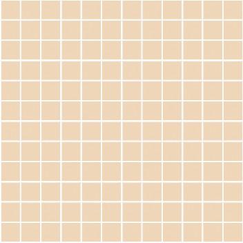 Керамическая плитка Темари Плитка настенная беж темный матовый (мозаика) 20075 29