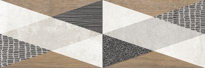 Керамическая плитка Стен Декор серый 1664-0201 20×60