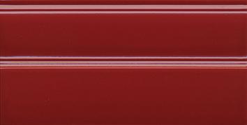 Керамическая плитка Даниэли Плинтус красный  обрезной FMA011R 30×15
