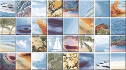 Керамическая плитка Dec Mozaic Sea Декор КВС16MozaicSea 25×45