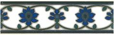 Керамическая плитка Девоншир Бордюр орнамент STG A189 5155 20×6