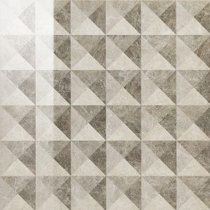 Керамогранит Элит Грэй вставка Иллюжн 59×59 люкс