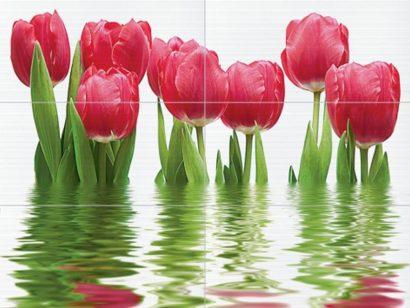 Керамическая плитка Фреш Панно тюльпаны 64-04-21-160-0 75×100 (из 6-ти ч.)