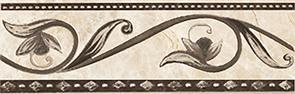 Керамическая плитка Illyria marrone Бордюр 8×25