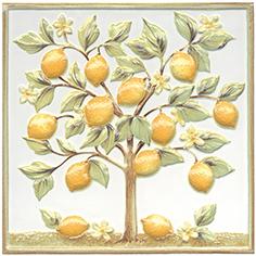 Керамическая плитка Капри Декор настенный Лимонное дерево TLA001 20×20