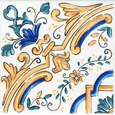 Керамическая плитка Капри Декор настенный майолика STG A449 5232 20×20