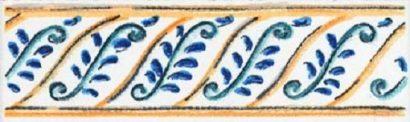 Керамическая плитка Капри Майолика STG A493 1146 Бордюр - 99×30 мм 60