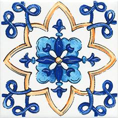Керамическая плитка Капри Вставка напольная майолика STG A486 1146 9