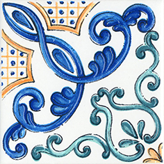 Керамическая плитка Капри Вставка напольная майолика STG A487 1146 9