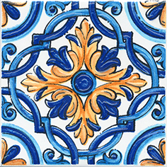 Керамическая плитка Капри Вставка напольная майолика STG A490 1146 9