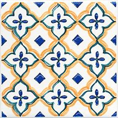 Керамическая плитка Капри Вставка напольная майолика STG A491 1146 9