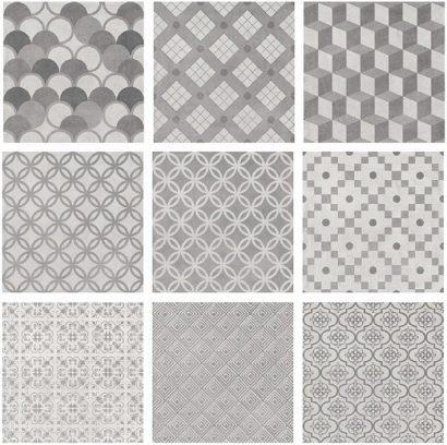 Керамическая плитка Карнаби-стрит Плитка напольная орнамент серый 1576T 20