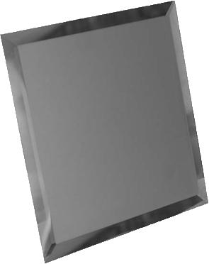 Керамическая плитка Квадратная зеркальная графитовая матовая плитка с фацетом 10мм КЗГм1-03 - 250×250 мм 10шт