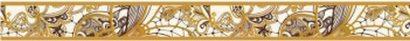 Керамическая плитка Лэйс Бордюр 46-03-15-590-0 4×40