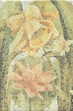 Керамическая плитка Летний сад Декор Лилии лаппатированный HGD A145 880L   20×30