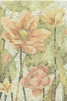 Керамическая плитка Летний сад Декор Лилии лаппатированный HGD A146 880L   20×30