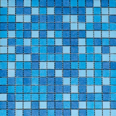 Плитка мозаика LV-MG512 мозаика микс голубой (2×2) 32