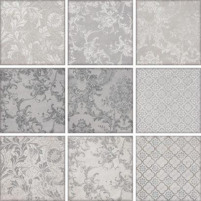 Керамическая плитка Марчиана Плитка настенная микс серый 1586 20×20