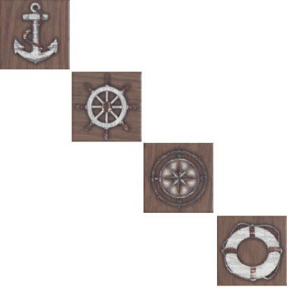 Керамическая плитка Марекьяро Вставка напольная коричневый SG952100N 7   33051 7 10×10
