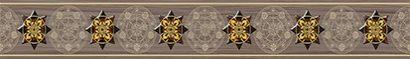 Керамическая плитка Miranda Rossa бордюр коричневый (MW1M111) 5×35
