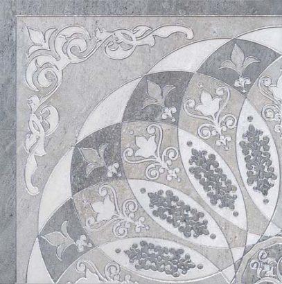 Керамическая плитка Монтаньоне 1 4 Розона серый лаппатированный Декор HGD B37 TU0031L - 420×420 мм 4