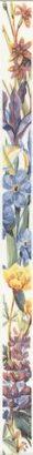 Керамическая плитка Ноттингем Бордюр Цветы NT A92 15028 40×3