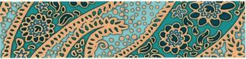 Керамическая плитка Ранголи Бордюр DT D72 11000T 30×7
