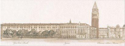 Керамическая плитка Сафьян Декор Панорама Venezia STG A577 15061    15×40