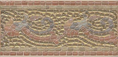 Керамическая плитка Виченца Бордюр золото HGD B100 17000 15×7