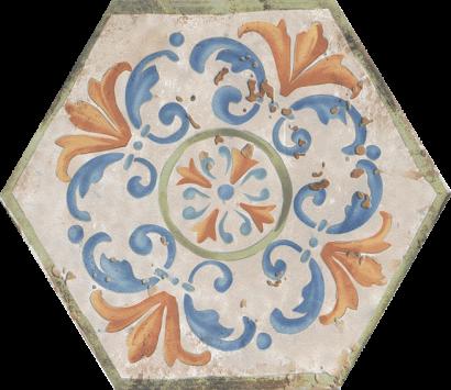 Керамическая плитка Виченца Декор напольный Майолика HGD A156 SG23000 20×23