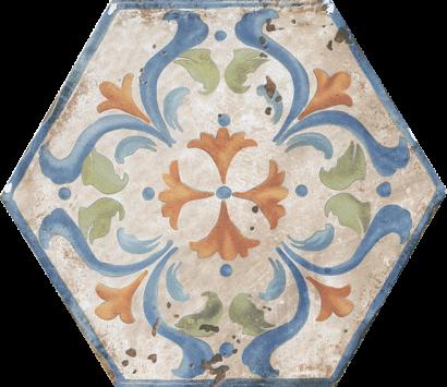 Керамическая плитка Виченца Декор напольный Майолика HGD A157 SG23000 20×23