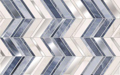 Керамическая плитка Аника Декор  голубой 01 25×40