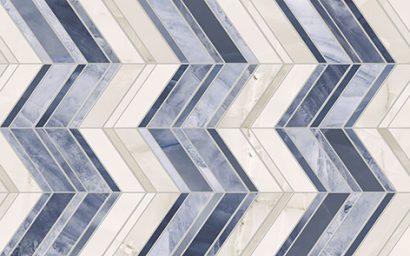 Керамическая плитка Аника Плитка настенная  голубая 02 25×40