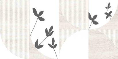 Керамическая плитка Джапанди Плитка настенная декор бежевая 1041-8200 19