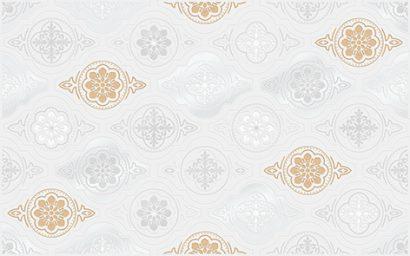 Керамическая плитка Фелиса Декор белый 01 25×40