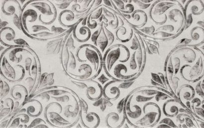 Керамическая плитка Персиан Декор серый 01 25×40