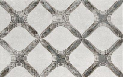 Керамическая плитка Персиан Декор серый 02 25×40