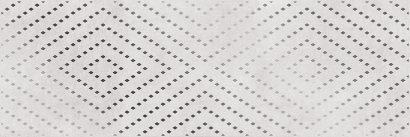Керамическая плитка Apeks Вставка светло-серая ромбы 15919 25×75