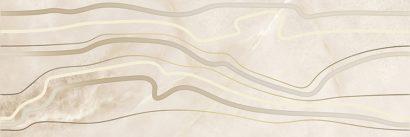 Керамическая плитка Ivory Вставка бежевая линии 15921 25×75